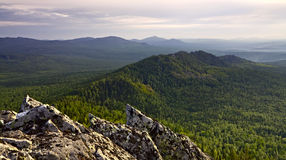Sharp teeth of mountain ridge. Russia, South Ural Royalty Free Stock Images