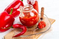 Sharp tomatoes paste Stock Photography