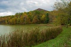 Sharp Top Mountain in the Autumn Stock Photos