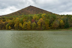 Sharp Top Mountain in the Autumn of the Year Stock Photo