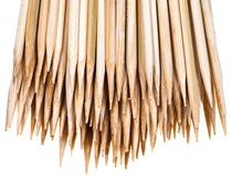 Sharp tops of wooden skewers Stock Photography