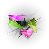 Sharp triangles on the abstract background. Vector busines temp Stock Photography
