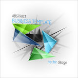Sharp triangles on the abstract background. Vector busines temp Royalty Free Stock Photography
