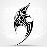 Sharp tribal tattoo. Vector illustration, art on a white abstract background Stock Photos