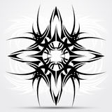Sharp tribal tattoo. Vector illustration, art on a white abstract background Royalty Free Stock Image