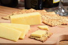 Sharp white cheddar cheese Stock Photography