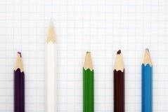 Sharp white pencil stock photo