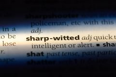Sharp witted. Word in a dictionary.  concept stock photography