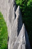 Sharp wooden paling as part of old fort Royalty Free Stock Image