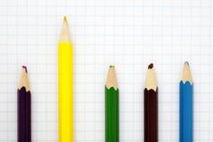 Sharp  yellow pencil Royalty Free Stock Photography