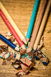 Sharpened color pencils Royalty Free Stock Image