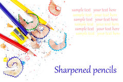 Sharpened colored pencils Royalty Free Stock Images
