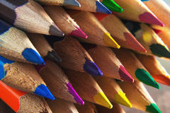 Sharpened colored pencils macro Royalty Free Stock Photos