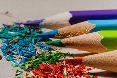 Sharpened colored pencils Stock Photography