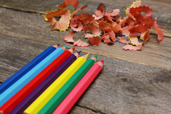 Sharpened colored pencils Royalty Free Stock Photo