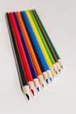 Sharpened colored pencils,wood Royalty Free Stock Photography