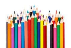 Sharpened colorful pencils Royalty Free Stock Image