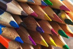 Sharpened coloriu lápis macro fotos de stock royalty free