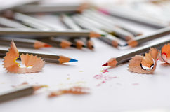 Sharpened colour pencils Royalty Free Stock Photography