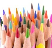 Sharpened ha colorato le matite Fotografia Stock Libera da Diritti