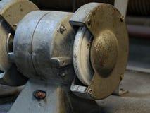 Sharpened machine. Old sharpened machine in workshop stock image
