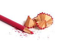 Sharpened pencil. Over white background Royalty Free Stock Photos