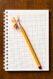 The sharpened pencil Stock Photo