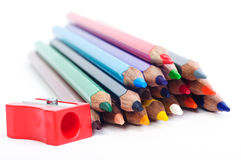 Pencils with sharper Royalty Free Stock Photos