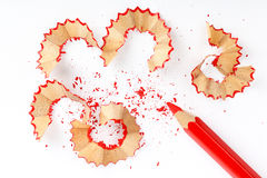 Sharpened red pencil Royalty Free Stock Photos