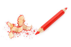 Sharpened red pencil Royalty Free Stock Images