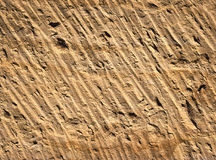 Sharpened sandstone rock texture Stock Photo