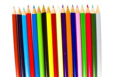 Sharpened tips of bright coloring pencils Stock Images