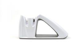 Sharpener μαχαιριών Whte, απομονωμένο υπόβαθρο Στοκ Εικόνες