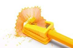 sharpener μολυβιών ανασκόπησης λευκό Στοκ Εικόνα
