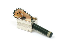 sharpener μολυβιών ξυρίσματα Στοκ Φωτογραφίες