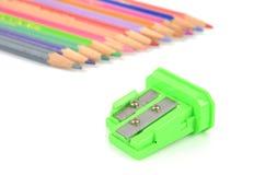sharpener μολυβιών χρώματος στοκ φωτογραφία