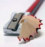 Sharpener de lápis e aparas 3 Imagens de Stock