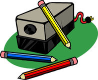Sharpener de lápis elétrico Imagem de Stock Royalty Free