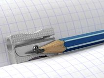 Sharpener and pencil Stock Images