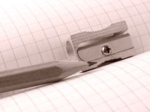Sharpener and pencil Royalty Free Stock Image