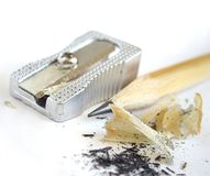 Sharpener and Pencil Royalty Free Stock Photography