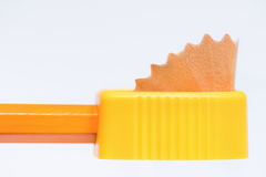 Sharpener with pencil Royalty Free Stock Photography