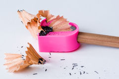 Sharpener with pencil Stock Photos