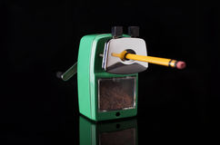 Sharpener and pencil Stock Image