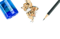 Sharpener and pencil Royalty Free Stock Photo