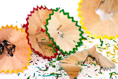 Sharpener shavings. On  background Royalty Free Stock Photography