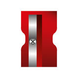Sharpener supply isolated icon Royalty Free Stock Images