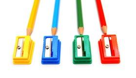 sharpeners μολυβιών ανασκόπησης λευκό Στοκ εικόνες με δικαίωμα ελεύθερης χρήσης