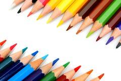 sharpeners μολυβιών ανασκόπησης λευκό Στοκ Φωτογραφία