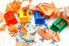 Sharpeners colour. On a white background. Stock Photo